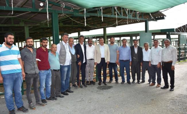 Başkan Özcan, hayvan pazarını ziyaret etti