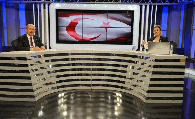 KKTC Cumhurbaşkanı Ersin Tatar ERTV'ye geldi, canlı yayın konuğu oldu