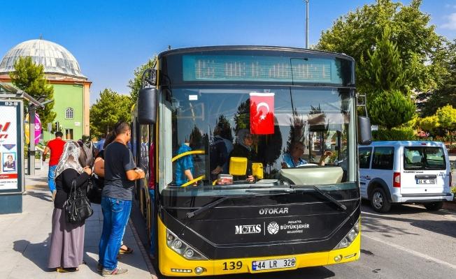 Malatya'da belediye otobüsleri bayramın 1'inci ve 2'inci günü ücretsiz