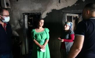 Evi yanan Evsa'nın gözyaşları hayırseverleri harekete geçirdi