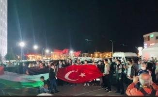 Malatyalılardan İsrail'e tepki 'Mescid-i Aksa'ya destek konvoyu