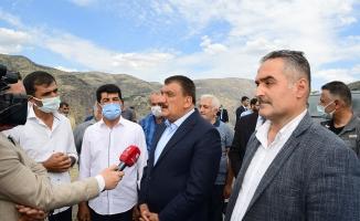 Başkan Gürkan, Kale ilçesindeki çalışmaları inceledi