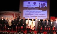 T.Ö.Ü'de  Kahraman'a fahri doktora unvanı verildi