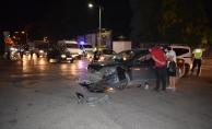 İki otomobilin karıştığı kazada 1 kişi yaralandı