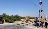 Korkunç kaza! Malatya'da yük treni hemzemin geçitte TIR'a çarptı!