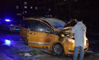 Tartıştığı kişinin aracına benzin döküp ateşe verdi!