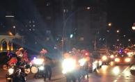 Polislerden coşkulu 23 Nisan konvoyu
