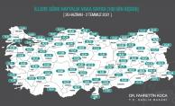Harita açıklandı! İşte Malatya ve ilçelerindeki son durum